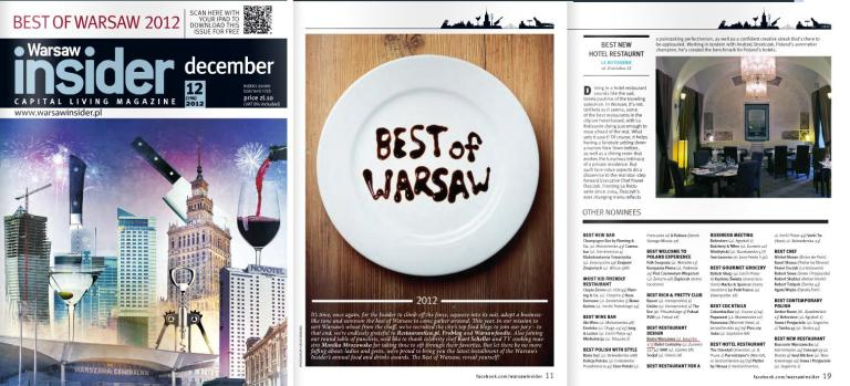 best of warsaw BEST RESTAURANT DESIGN bistro warszawa